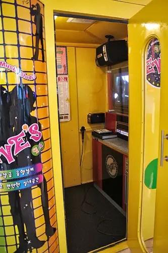 noraebang room in korea, karaoke room in korea