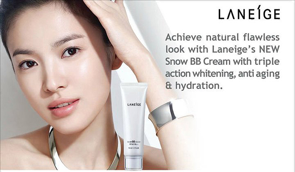 song hye gyo bb cream, whitening products