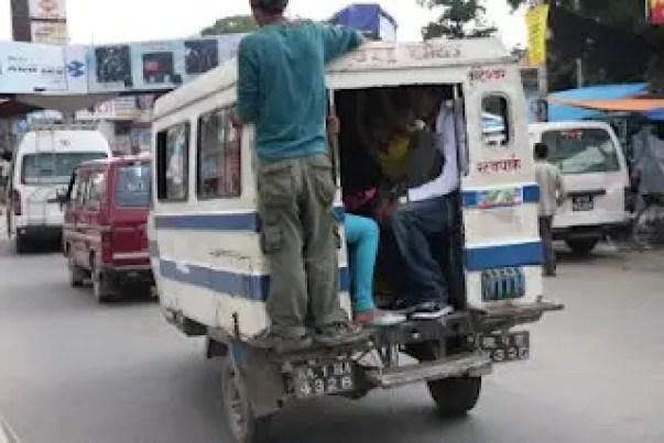nepal buses, buses in kathmandu