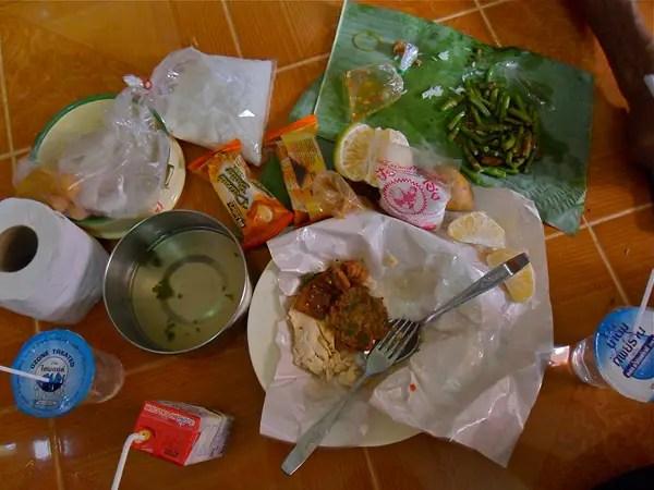 alms breakfast for monks