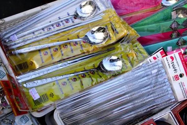 korean culture, korean metal chopsticks, cute korean souvenirs, where to buy korean souvenirs