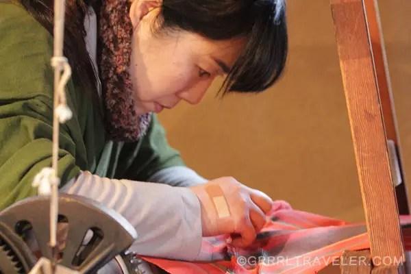 hakata textile, japanese textile and weaving, hakata machiya museum