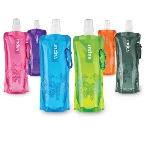 vapur anti bottles, collapsable and foldable travel bottles