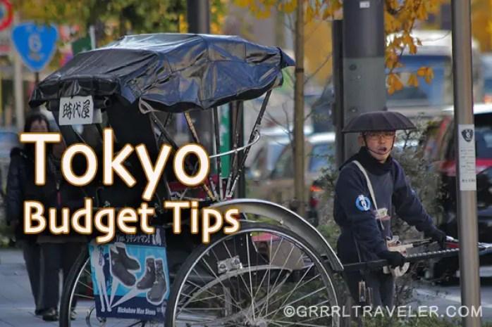 tokyo budget tips, japanese rickshaw