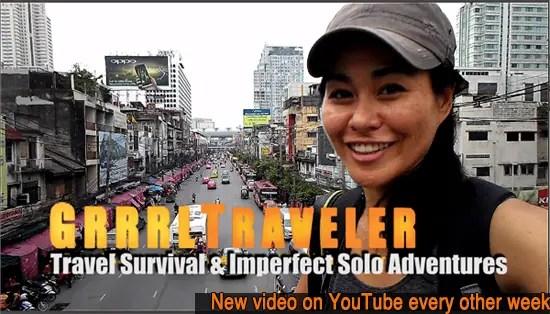 grrrltraveler, christine kaaloa camera operator, solo female travel blogger, solo female travel tips on youtube