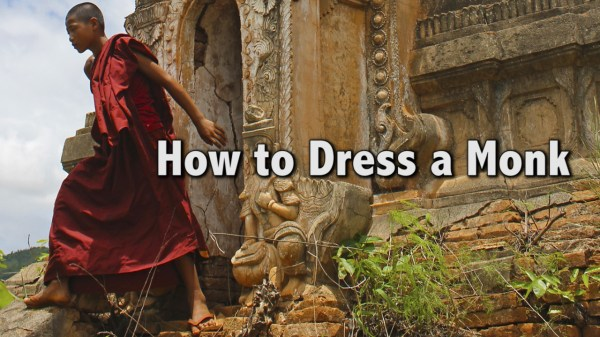 how to dress a monk, buddhist monk clothes, how to tie a lungi, how to wear a sari