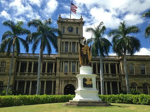Kamehameha Statue in Downtown, Kamehameha Statue in Honolulu, Hawaii landmarks