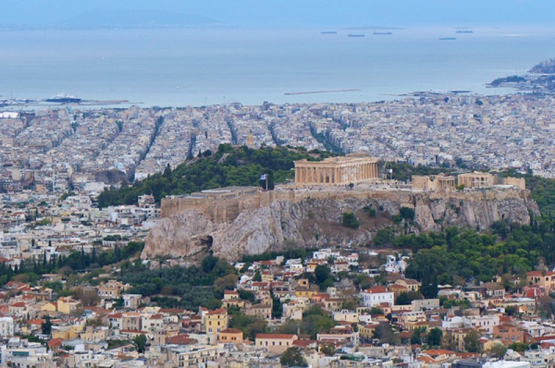 things to do in athens, athens travel guide, view of parthenon, view from mount lycabettus
