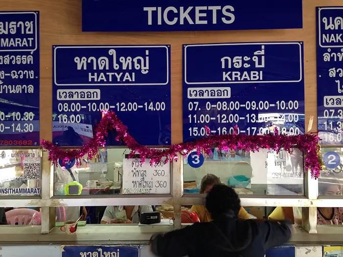 Phuket bus station, bus schedule in Thailand