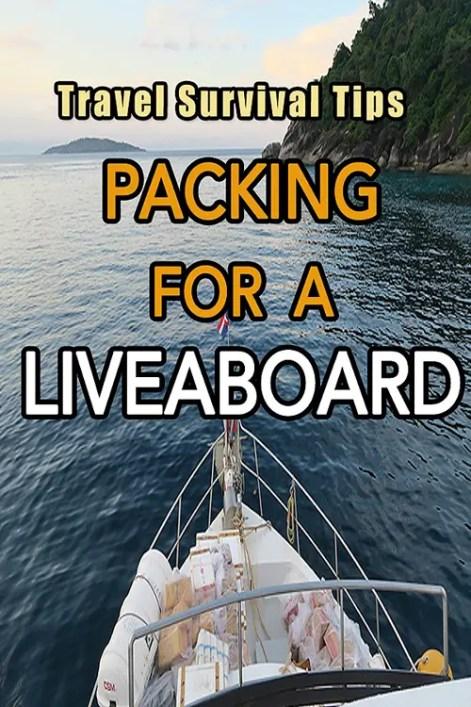Liveaboard Essentials, liveaboard packing list, packing tips for a liveaboard