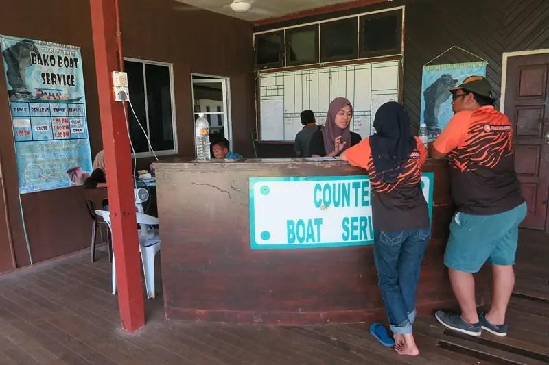 Boat Ticket Counter at Bako Park