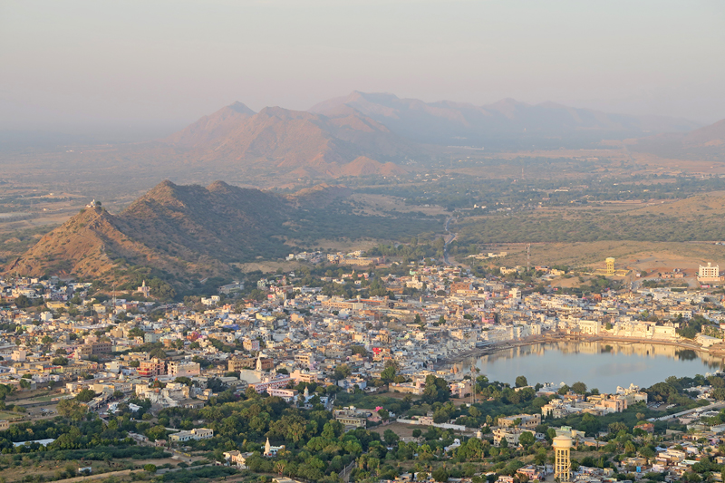 View of Pushkar from Savitri Mountain, pushkar, view of pushkar