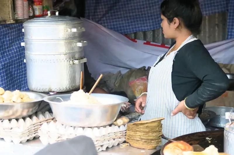Tibetan momos in Darjeeling