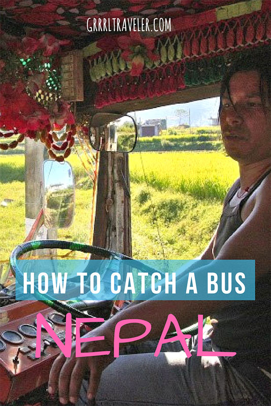 how to Catch a bus Nepal | Pin to Pinterest