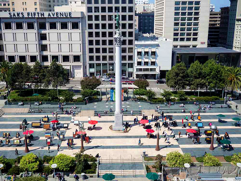 San francisco Union Square, union square plaza san francisco