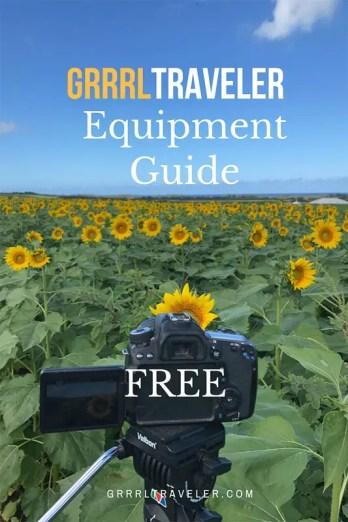 equipment gear guide, travel camera gear guide 2018