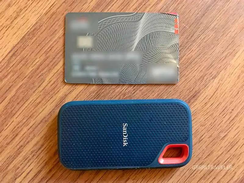 SanDisk Extreme Portable SSD vs Credit card
