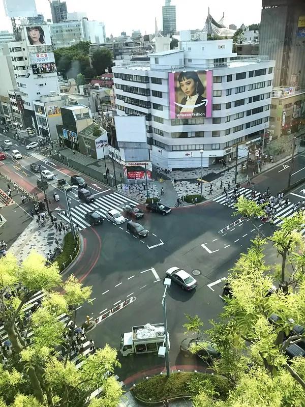 omotaesando harajuku crossing tokyo