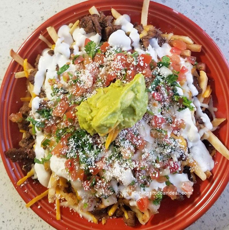 carne Asada fries, Donut Bar Donut, best foods to eat in san diego