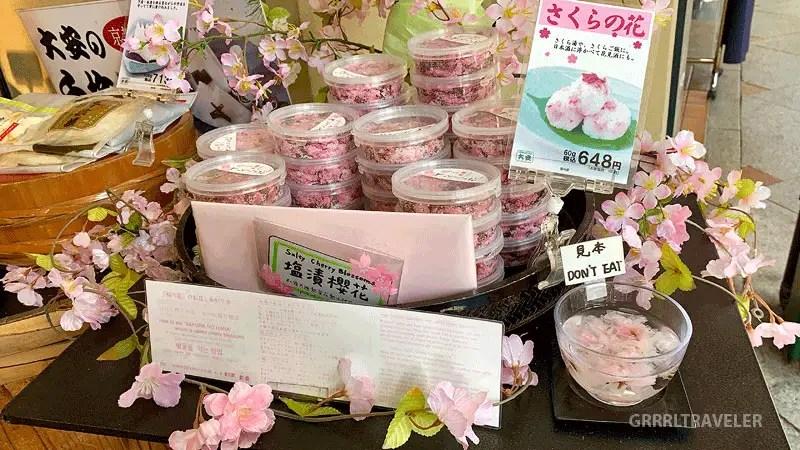Sakura salt seasonings, top 10 sakura sweets, top 10 sakura snacks, 10 must try sakura snacks
