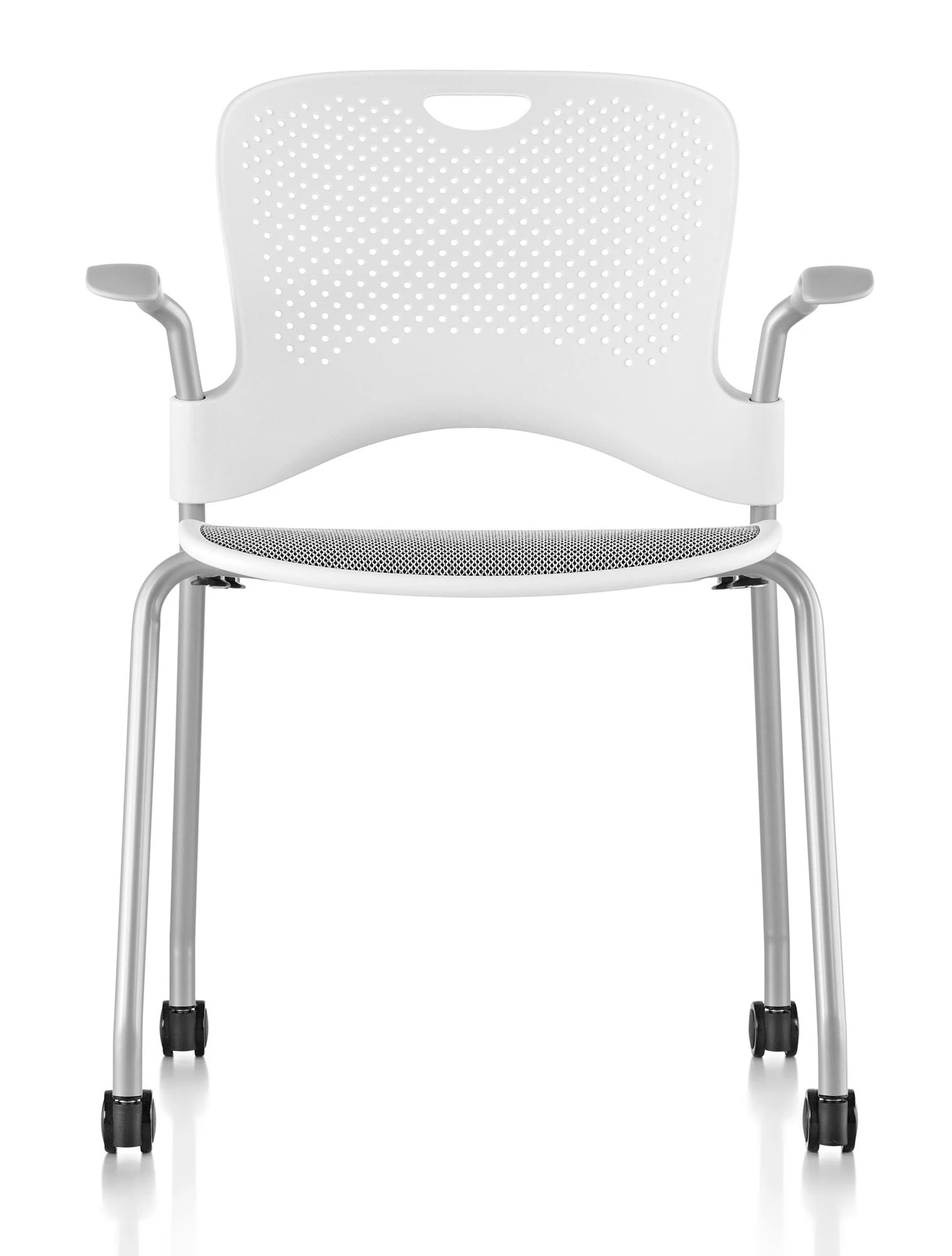 herman miller caper chair turquoise wingback stacking with flexnet gr