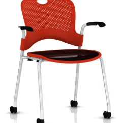 Kitchen Chairs On Casters Canada Wooden Restaurant Herman Miller Caper® Chair - Stacking With Flexnet™ Gr Shop