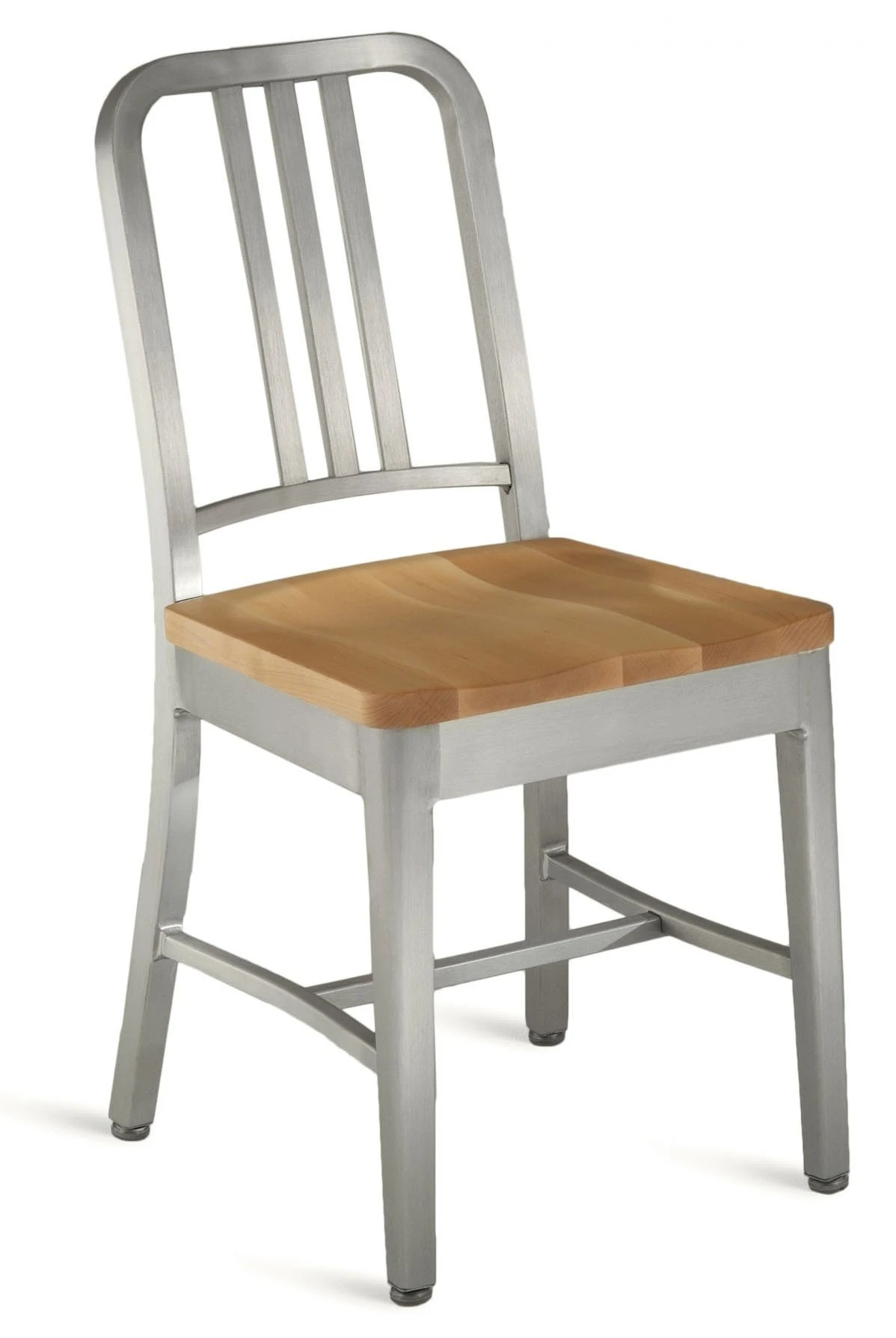 Emeco Navy Chair With Natural Wood Seat  GR Shop Canada