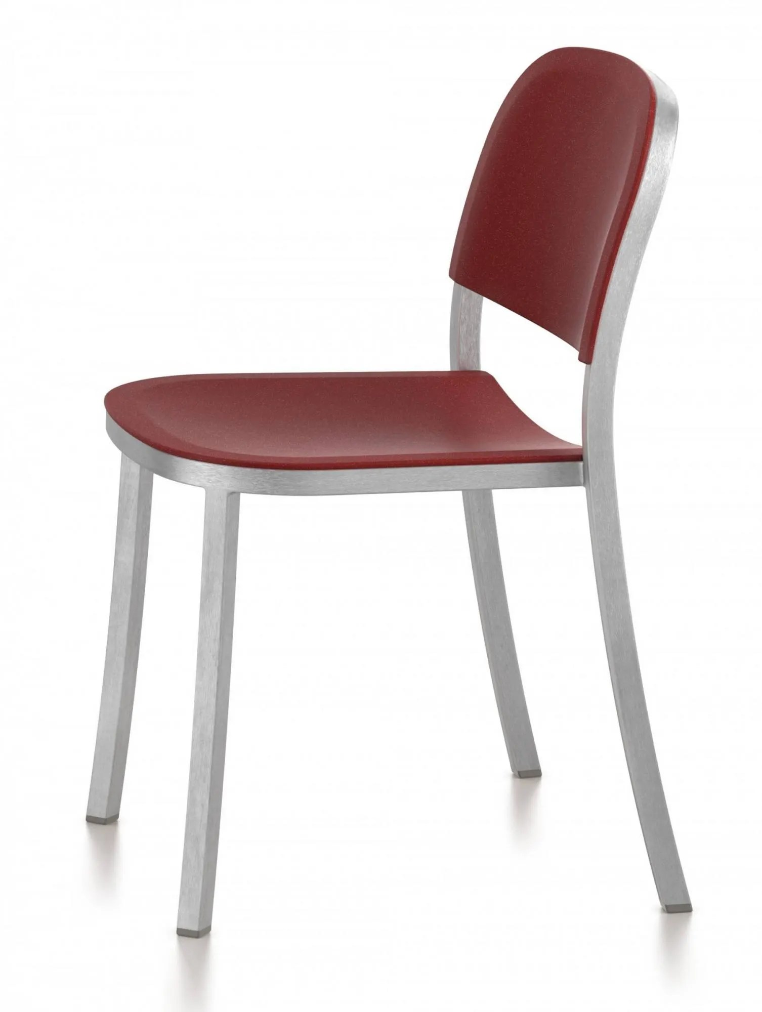 Emeco 1 INCH Stacking Side Chair By Jasper Morrison On