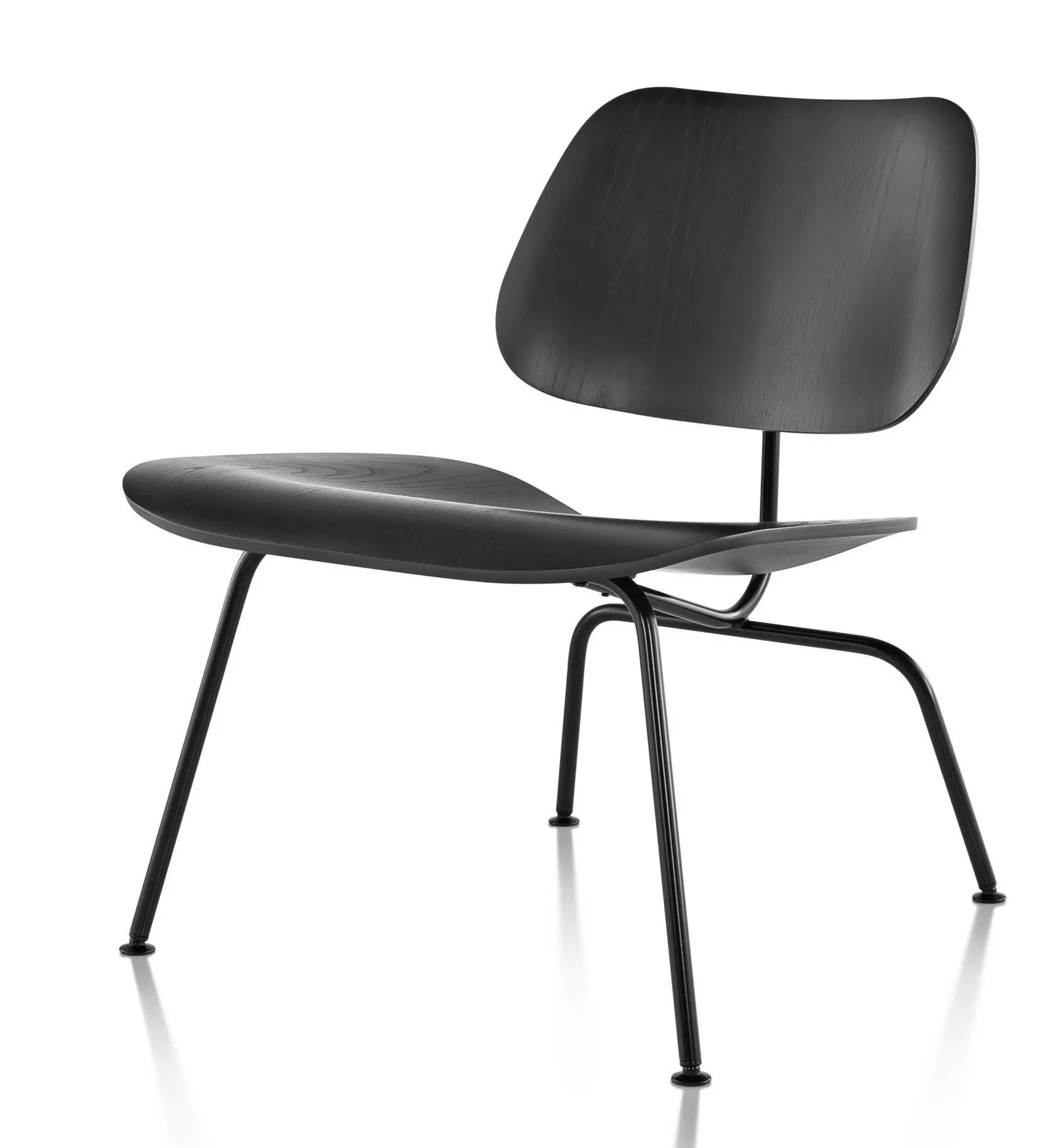 chair steel legs overstock dining room covers herman miller eames molded plywood lounge metal