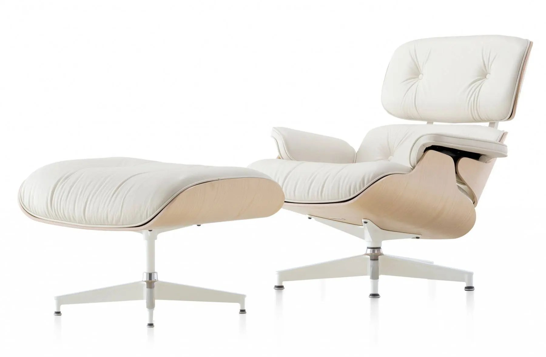 eames chair canada modern brown leather recliner 2 herman miller lounge and ottoman white ash