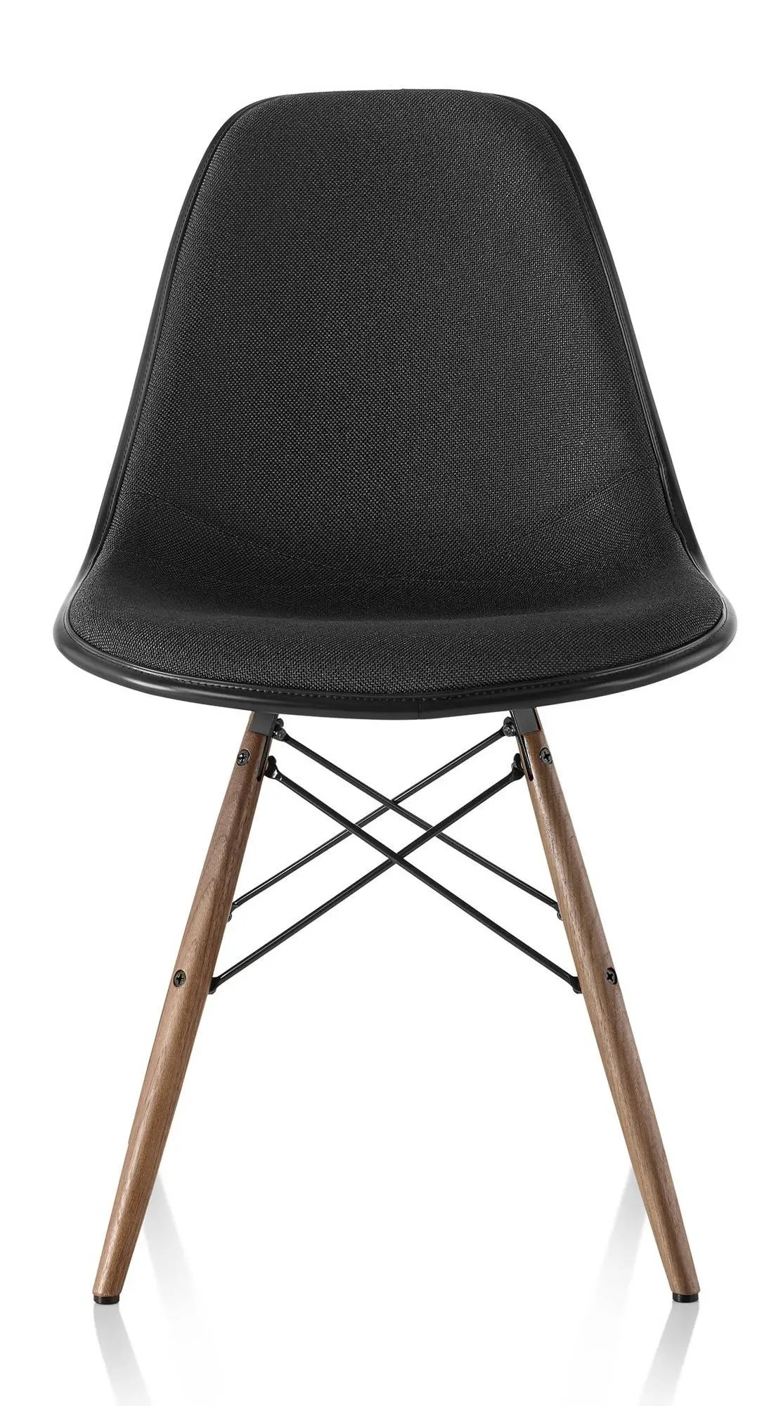 eames molded side chair leather easy herman miller plastic upholstered