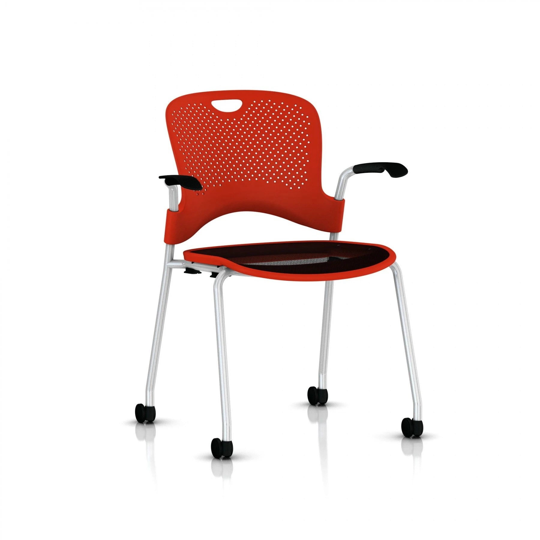 kitchen chairs on casters canada 8 chair patio set herman miller caper® - stacking with flexnet™ gr shop