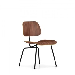 Eames Dining Chair Lincoln Tufted Tub Accent Herman Miller Molded Plywood Metal
