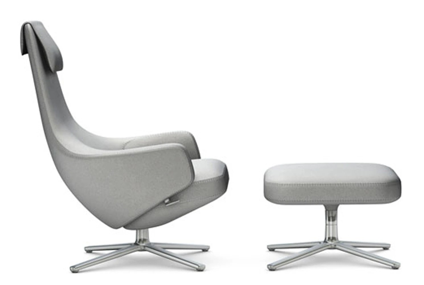 vitra lounge chair beach chairs with umbrellas attached repos and ottoman gr shop canada