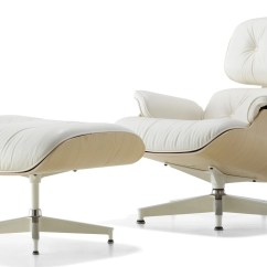 Eames Chair White Wingback With Ottoman Canada Herman Miller Lounge And Ash
