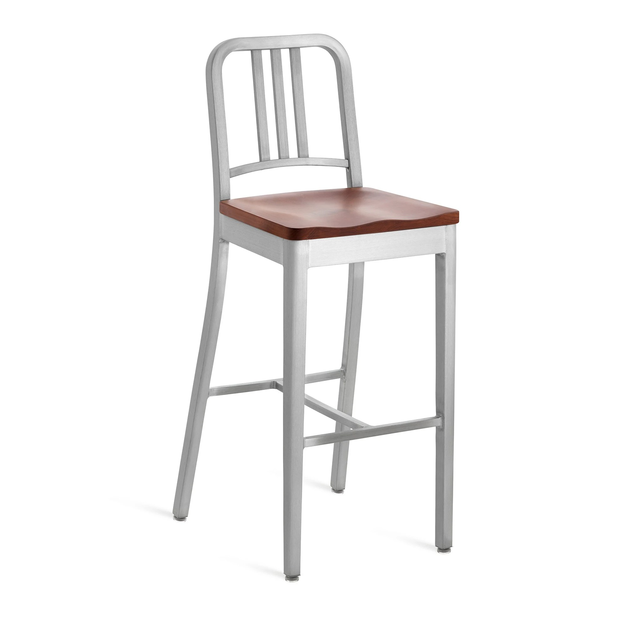 Emeco Navy Barstool With Natural Wood Seat  GR Shop Canada