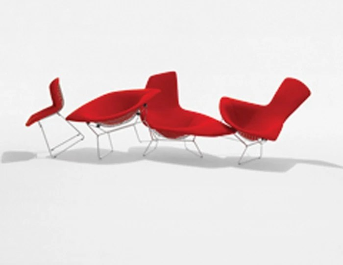 Knoll Harry Bertoia  Diamond Lounge Chair  With Glides