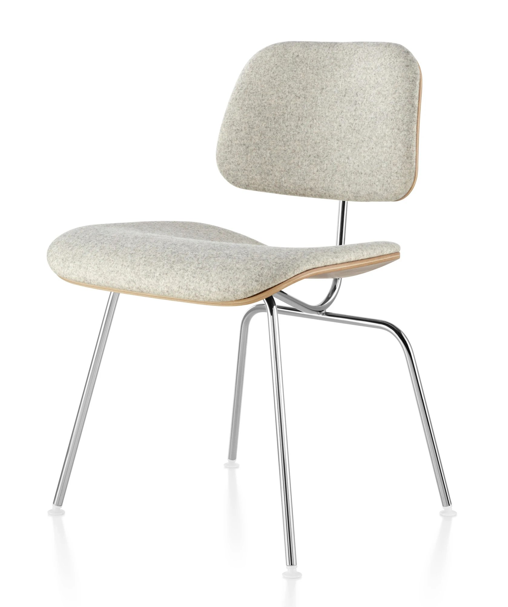 chair steel legs white covers argos herman miller eames molded plywood upholstered dining