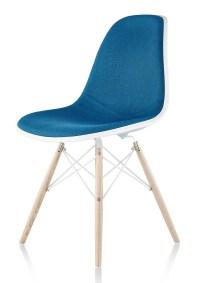 Herman Miller Eames Molded Plastic Side Chair Upholstered ...