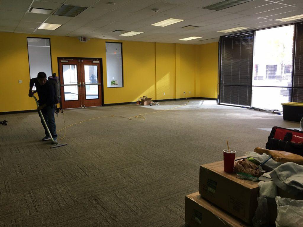 Warehouse Church Store Final Post Construction Clean Up in Plano TX 002 1024x768 Warehouse Church Final Post Construction Clean Up in Plano, TX