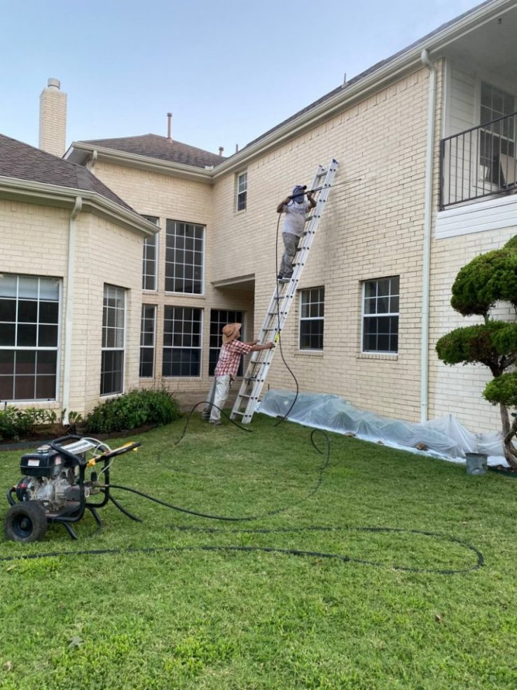 House Exterior Pressure Washer in Plano TX 00012 768x1024 House Exterior Pressure Washer in Plano, TX