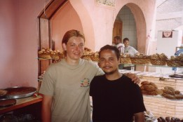 MOHAMMED AND ME IN HIS BAKERY