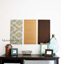 How-to: Fabric panel wall art | Grubby Girls