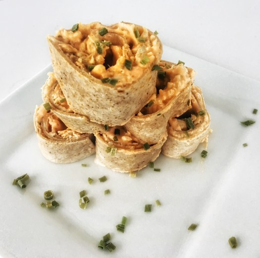 ww buffalo chicken pinwheels