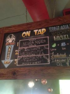 City Tacos North Park Tap List Insurgente Tap Takeover