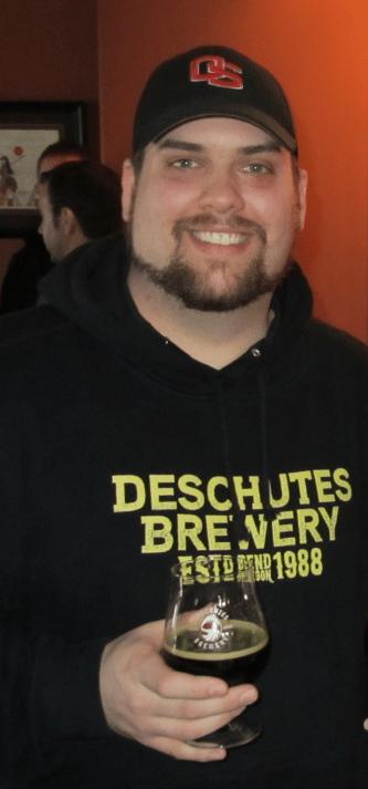 Eric Moore enjoying a brew