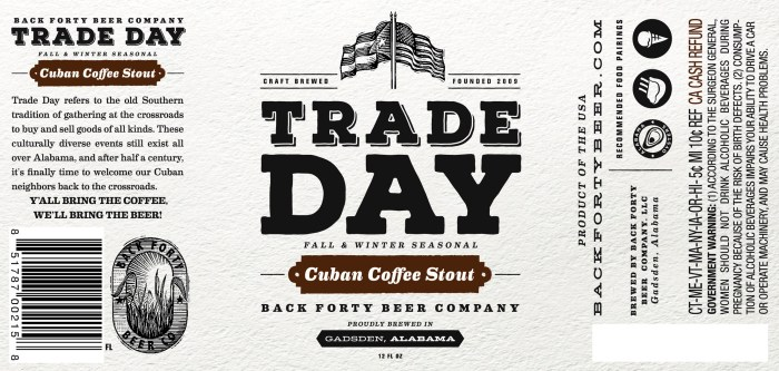 Back Forty Trade Day Cuban Coffee Stout
