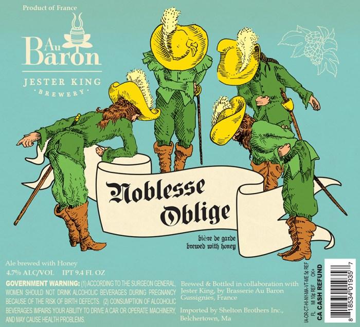 Au Baron & Jester King Noblesse Oblige Bière de Garde with Honey