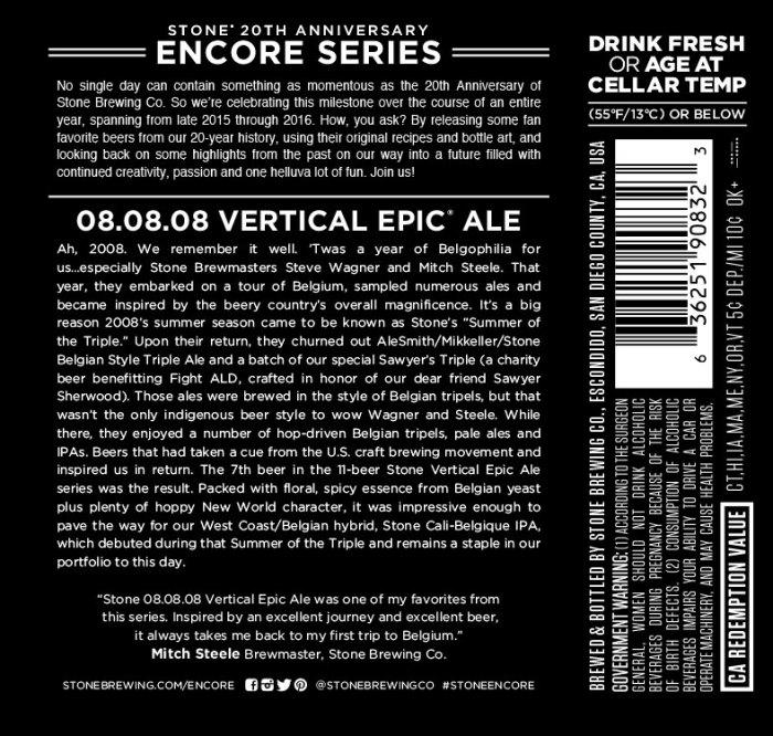 Stone Vertical Epic 08 Encore