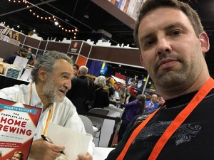 Getting a book signed by the legendary Charlie Papazian